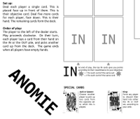 Part of the new anomie game board